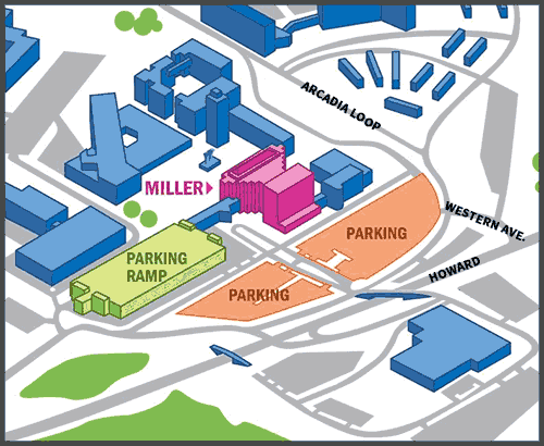 Miller parking map graphic.