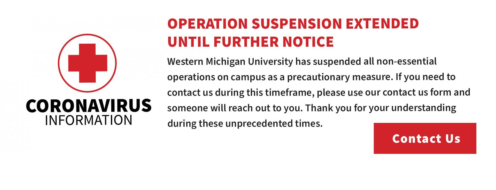 Miller Auditorium Operation Suspended Until Further Notice:If you need to contact us during this time frame please use our contact form.