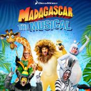 Madagascar The Musical Logo with characters in a group